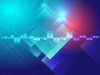 blue technology background vector illustration
