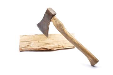Axt mit Holz