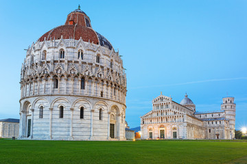 Pisa, Italy. Catherdral and the Leaning Tower of Pisa