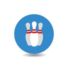 Bowling flat icon
