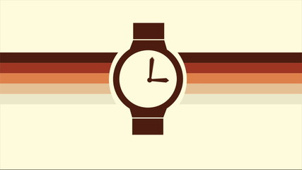 Watch with retro colors, Video animation, HD 1080