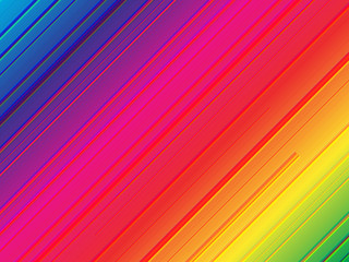 Rainbow background with diagonal lines