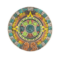 Mayan calendar. Ancient religious symbol in Mexico.