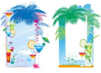 Templates designs for cocktail menu