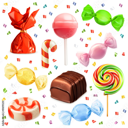 Candy set, vector icons - 81619320