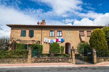 イタリア トスカーナ ピエンツァの民家