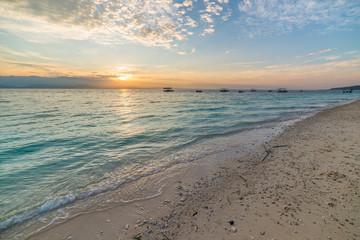 Romantic seascape at sunrise
