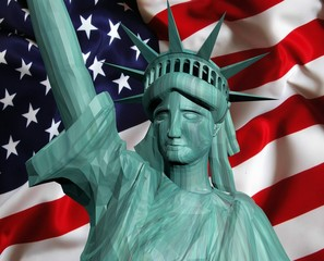 4 of july conceptual statue of liberty