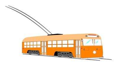 vintage trolley bus