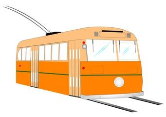 vintage electric trolley bus