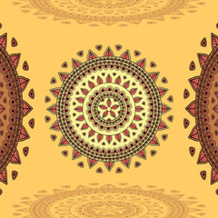 Circular ornament on beige  Background