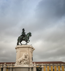 horse statue lisbon