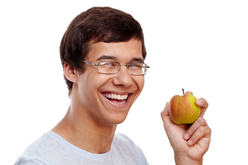 Guy with apple