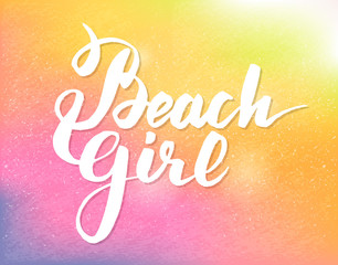 Summer hand drawn calligraphic poster