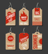 Cardboard Summer Sales Labels