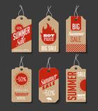 Cardboard Summer Sales Labels - 81621349