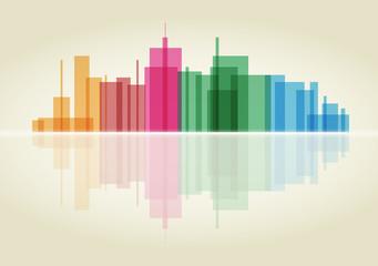 panorama di una città in vettoriale