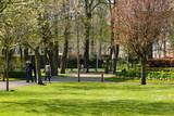 jardin public au printemps