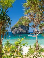 Sunny Nui Bay Beach, Camel rock view, Thailand, Ko Phi Phi Don,