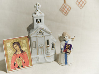 little angel, church and icon