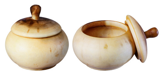 wooden pot,