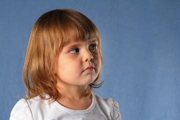 Pretty girl in studio portrait