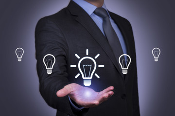 Ideas Concept on Businessman Hand