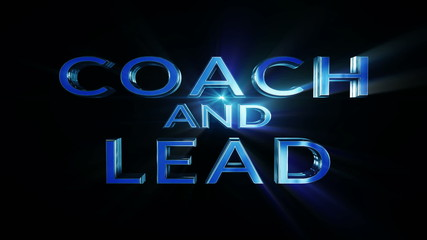 Coach and lead digital text and lights, loop