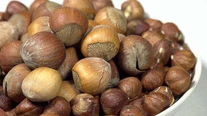 Hazelnuts in the Shell on a Plate