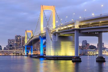 Twilight Tokyo landmarks,Tokyo Rainbow bridge