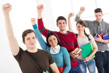 Group Of Successful Students