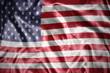 Leinwandbild Motiv shining united states of america flag
