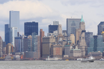 Skyline of lower Manhattan of New York