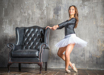 classic ballet dancer fashion portrait