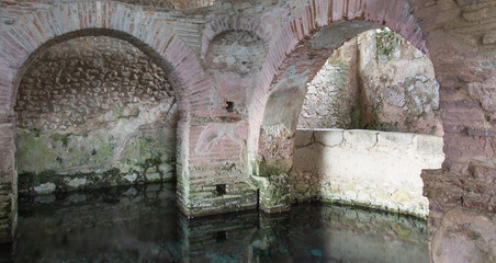 ruins of an early Christian baptistery perfectly preserved