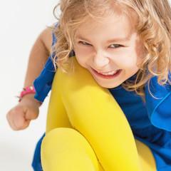 Портрет маленькой непослушной девочки.