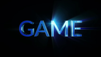 Game digital text and lights, loop