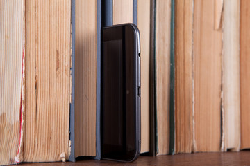 Tablet and books