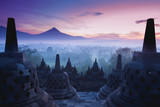 Borobudur Temple is sunrise, Yogyakarta, Java,