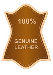 genuine leather label