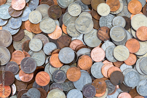 Coins background - 81627116