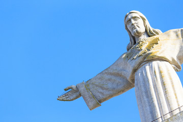 the statue of Jesus, in Almada; Across the river from Lisbon, Po