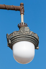 Ornate detail of a lamp-post, Barcelona