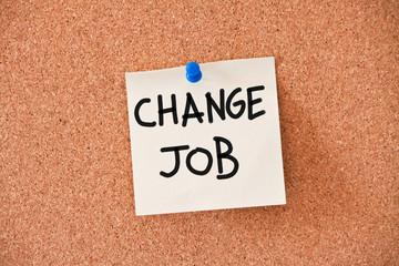memo: change job
