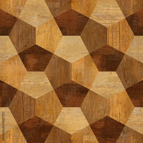 Abstract paneling pattern - seamless pattern - parquet flooring - 81627729