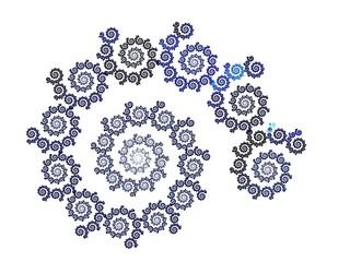 fractal on white background