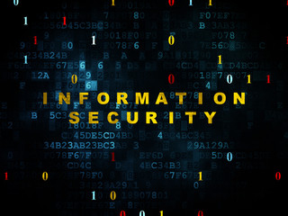 Protection concept: Information Security on Digital background