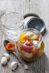Homemade preserved vegetables