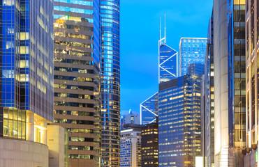 Hong Kong bussines at night