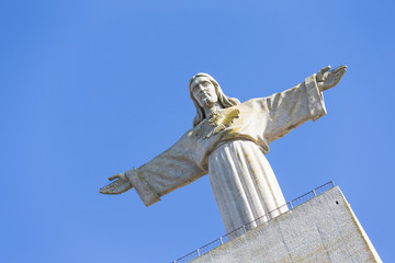 Cristo Rei, the statue of Jesus, in Almada; Across the river fro